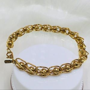 "MONET link bracelet 14k yellow gold filled 7"""